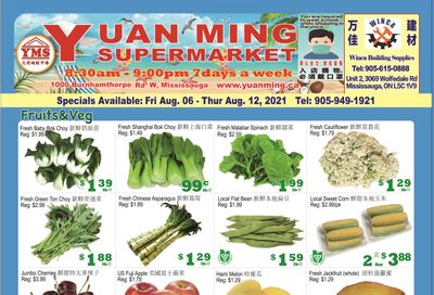 Yuan Ming Supermarket Flyer August 6 to 12