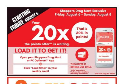 Shoppers Drug Mart (West) Flyer August 7 to 12