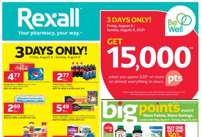 Rexall (West) Flyer August 6 to 19