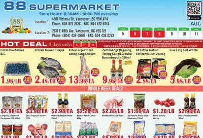 88 Supermarket Flyer August 5 to 11