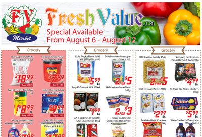 Fresh Value Flyer August 6 to 12