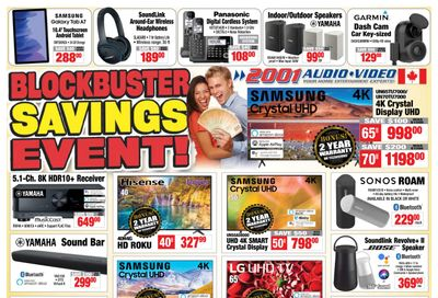 2001 Audio Video Flyer August 6 to 12