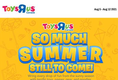Toys R Us Flyer August 5 to 11