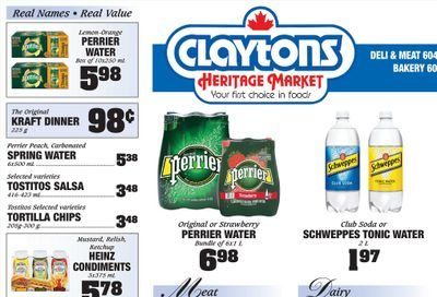 Claytons Heritage Market Flyer August 6 to 12