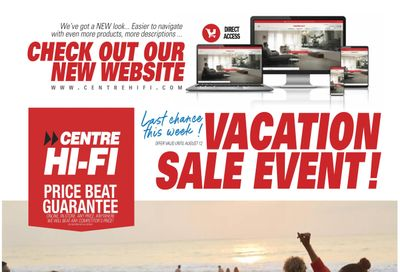 Centre Hi-Fi Flyer August 6 to 12