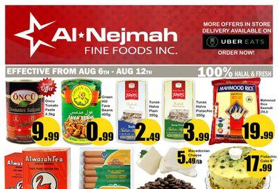 Alnejmah Fine Foods Inc. Flyer August 6 to 12