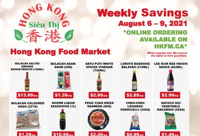 Hong Kong Food Market Flyer August 6 to 9