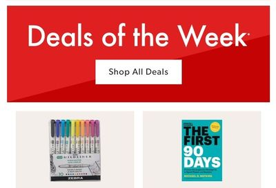 Chapters Indigo Online Deals of the Week August 9 to 15