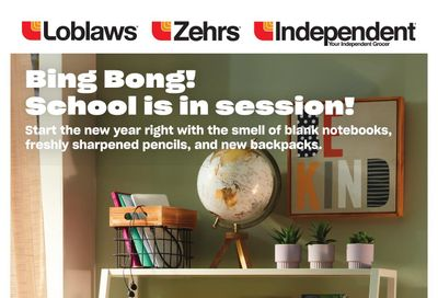 Loblaws (ON) Back to School Flyer August 12 to September 8