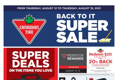 Canadian Tire (ON) Flyer August 12 to 19