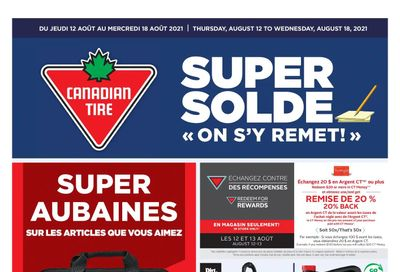 Canadian Tire (QC) Flyer August 12 to 18