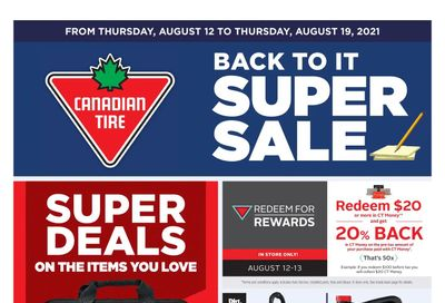 Canadian Tire (West) Flyer August 12 to 19