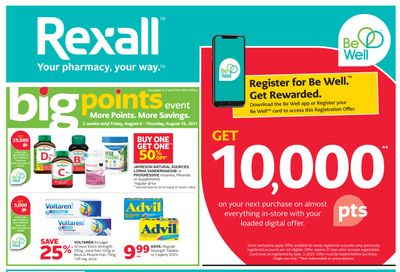 Rexall (West) Flyer August 13 to 19