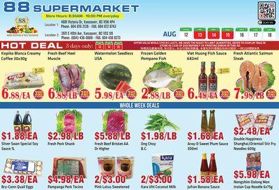 88 Supermarket Flyer August 12 to 18