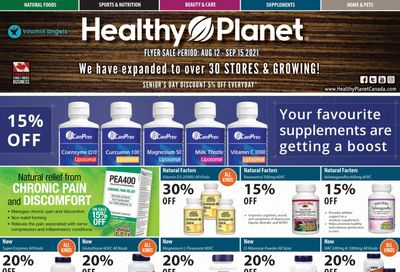Healthy Planet Flyer August 12 to September 15