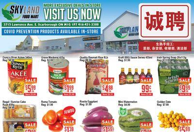 Skyland Food Mart Flyer August 13 to 19