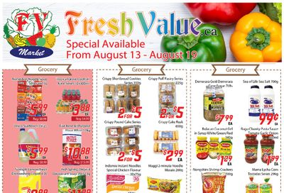 Fresh Value Flyer August 13 to 19