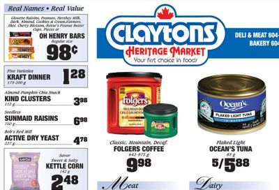 Claytons Heritage Market Flyer August 13 to 19