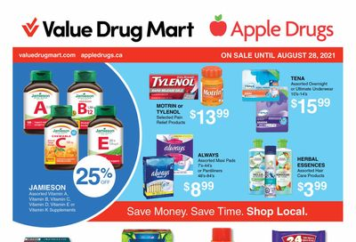 Apple Drugs Flyer August 15 to 28