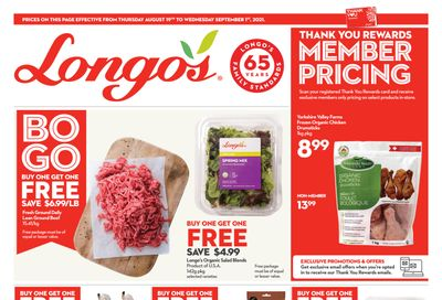 Longo's Flyer August 19 to September 1
