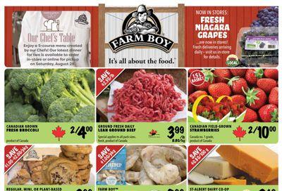 Farm Boy (Cornwall, Kingston, Ottawa) Flyer August 19 to 25