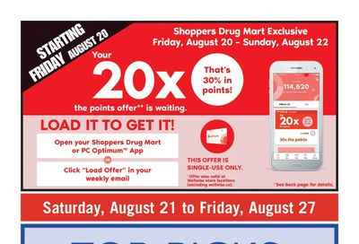 Shoppers Drug Mart (ON) Flyer August 21 to 27