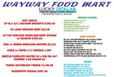 WayWay Food Mart Flyer August 13 to 19