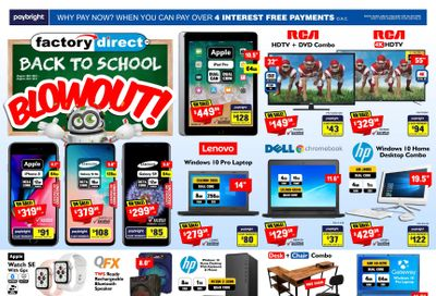 Factory Direct Flyer August 18 to 25