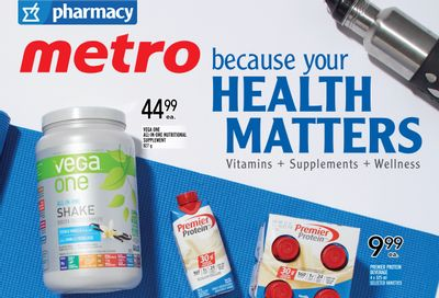 Metro (ON) Because Your Health Matters Flyer August 19 to September 15