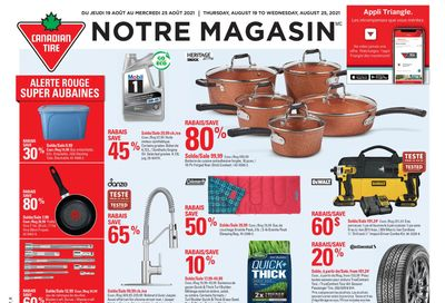 Canadian Tire (QC) Flyer August 19 to 25