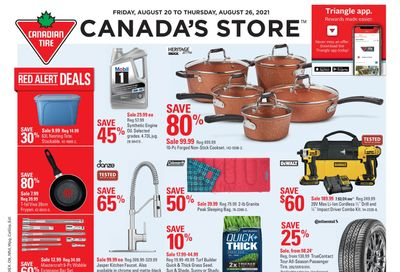 Canadian Tire (West) Flyer August 20 to 26