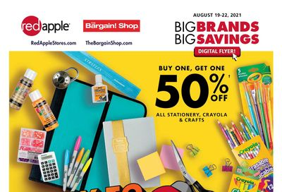 The Bargain Shop & Red Apple Stores Flyer August 19 to 22
