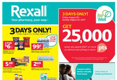 Rexall (West) Flyer August 20 to 26