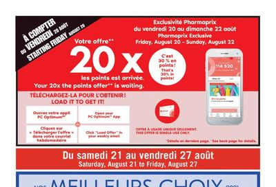 Pharmaprix Flyer August 21 to 27
