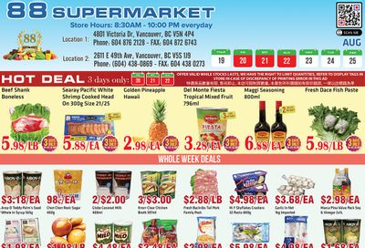 88 Supermarket Flyer August 19 to 25