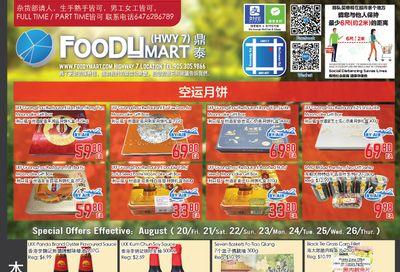 FoodyMart (HWY7) Flyer August 20 to 26