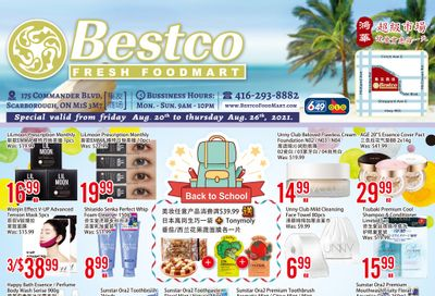 BestCo Food Mart (Scarborough) Flyer August 20 to 26
