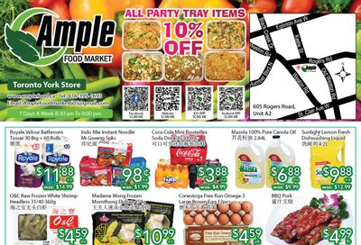Ample Food Market (North York) Flyer August 20 to 26