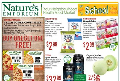 Nature's Emporium Flyer August 20 to September 2