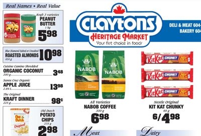 Claytons Heritage Market Flyer August 20 to 26