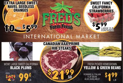 Fred's Farm Fresh Flyer August 18 to 24