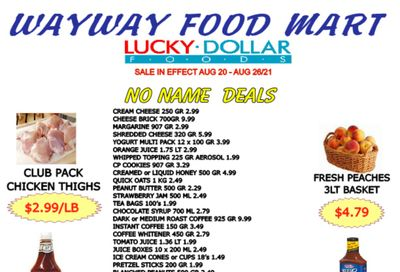 WayWay Food Mart Flyer August 20 to 26