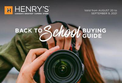 Henry's Flyer August 20 to September 9
