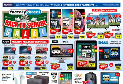 Factory Direct Flyer August 25 to September 1