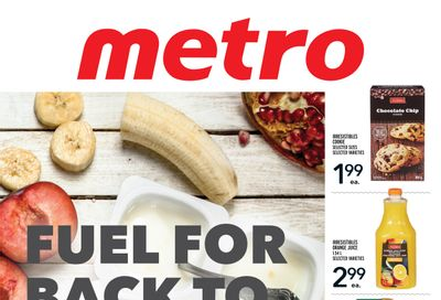 Metro (ON) Fuel for Back to School Flyer August 26 to September 22