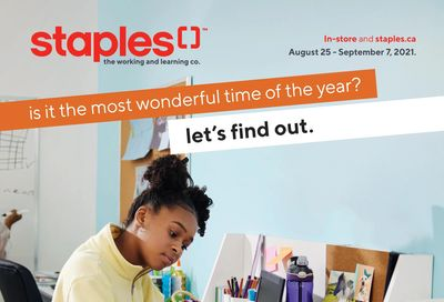Staples Back to School Flyer August 25 to September 7