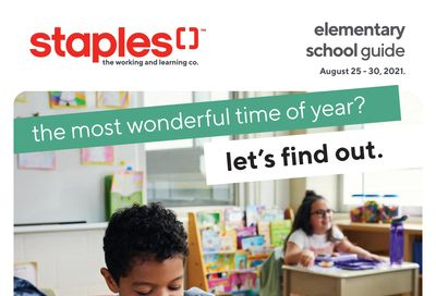 Staples Elementary School Guide August 25 to 31