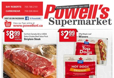 Powell's Supermarket Flyer August 26 to September 1