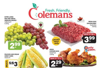 Coleman's Flyer August 26 to September 1
