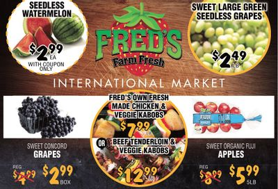 Fred's Farm Fresh Flyer August 25 to 31